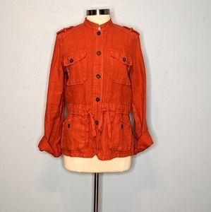 Lucky Brand Linen Utility Jacket